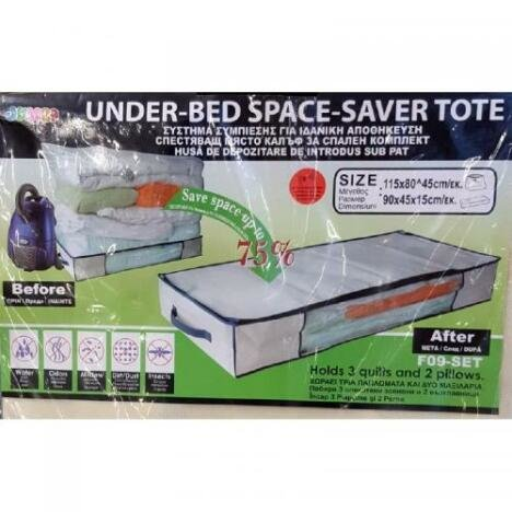 SAC CU VACUUM - under bed 60x45x24 cm
